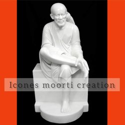 4 Feet Marble Sai Baba Statue