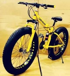 Yellow Land Rover Fat Tyre Foldable Cycle