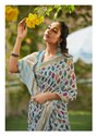 Shangrila Creation Niharika Digital Soft Linen Fabric With Zari Border and Pallu Saree Catalog