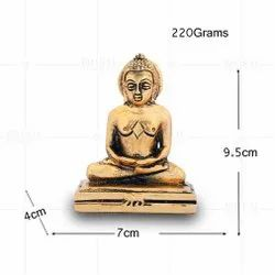Gold Plated Mahaveer Small Idol