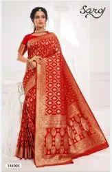 Red Color Jacquard Saree