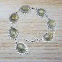 Golden Rutile Gemstone 925 Sterling Silver Bracelet