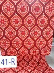 NON WOVEN PRINTED CARPET DESIGN NO - 41 RED