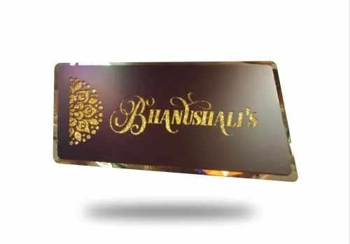 Led Name Plate Bhanushalis Name Plate For Home Door Nameplate Online Exclusive Name Plate At Rs 2799 Piece Led Name Plate Id 22669646088