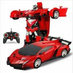 Multicolor Plastic Deform Robot Transformer Car, For Personal