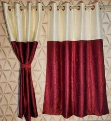 Long crush punching patch curtains