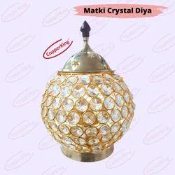 Matki Round Shape Crystal Akhand Diya Jyoti