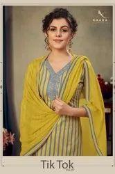 Kaara Tik Tok Cotton Embroidery Sharara Style Salwar Suits Catalog