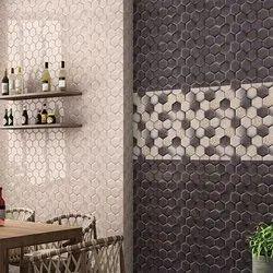 Ceramic Rectangular Glossy Bathroom Digital Wall Tile, Size: 300x450mm
