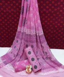 New Latest Natural Bagru Hand Block Printed Cotton Dress Material With Chiffon Dupatta.