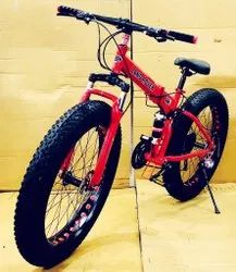 Red Land Rover Fat Tyre Foldable Cycle