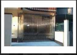 Stainless Steel 10 Feet SS Collapsible Gate, For Home