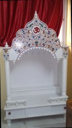 3 X 1.5 Feet White Marble Temple