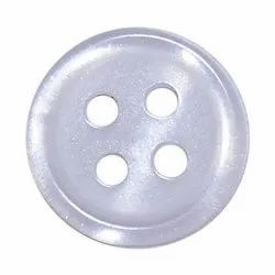 White Round Garment Polyester Button, For Garments, Packaging Type: Packet