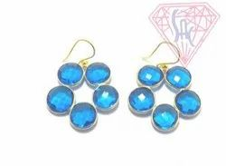 Sameer Art & Craft Round Jewelry Earring, Size: 12 mm