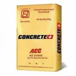 ACC Concrete Plus Cement, Packaging Type: Paper Bag, Packaging Size: 50 Kg