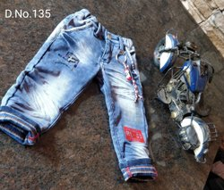 Regular Fit Boy Kids Casual Sulphur Denim Pants