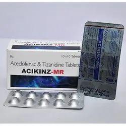 Aceclofenac and Tizanidine Tablets