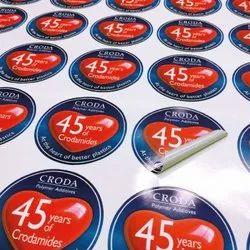 Vinyl Labels Sticker, Packaging Type: Packet