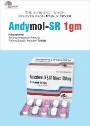Andymol-SR 1gm Tablet Paracetamol 1000mg Sr