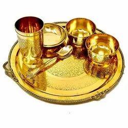Golden Brass Dinner Set