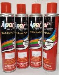APAR Matt Black and Silver Heat Resistant Aerosol Spray Paint, Packaging Type: Can, Packaging Size: 440 Ml