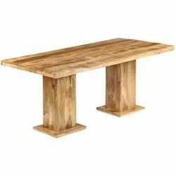 Brown Wooden Dining Table, For Home