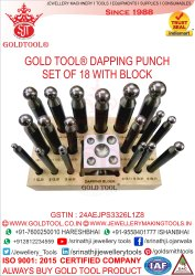 Gold Tool Dapping Punch Set