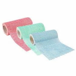 Multicolor Printed Fabby Non Woven Fabric Kitchen Towel, Wash Type: Washable, Size: 60 Pulls And 80 Pulls