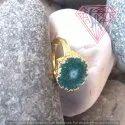 Natural Green Druzy Ring