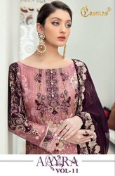 Cosmos Aayra Vol-11 Georgette With Work Pakistani Style Suits Catalog