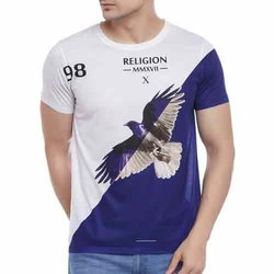 Cotton Casual Wear Custom Printed T Shirt, Size: S-xxl