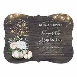 Bridal Shower Invitation Cards With Shape Cutting