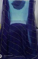 Saarvi Party Wear Crystal Handwork Chiffon Saree, 6 m (with blouse piece)