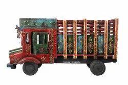 Wooden Craft Truck Decorative Showpiece