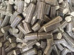 Soybean Husk Biomass Briquettes, For Boiler, Thickness: 90 Mm