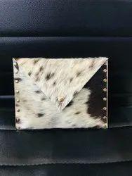 Women Off White Leather Ladies Bags, Size: Medium