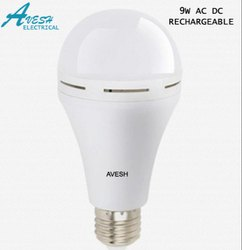AVESH Round 9 W AC/DC Rechargeable LED Bulb, B22