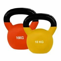 Weights Orange Black, Yellow Black Kettle Bell, For Gym, Weight: 10, 16 Kg