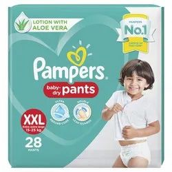 Cotton Pant Diapers XX-Large Pampers Diaper Pants, Age Group: 3-12 Months, Packaging Size: 28 Pieces