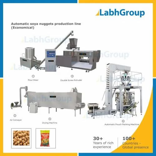 Textured Soya Nuggets Protein Making Machines