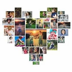 Wooden Collage Photo, For Gift, Size: 20x20