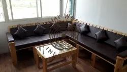 Wooden White DIY Sofa Made From Imported Pine Wood