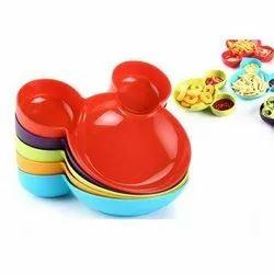 Plastic Mickey Shape Plate