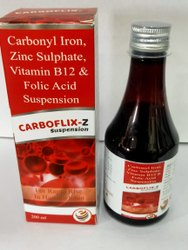 Carbonyl Iron,Zinc Sulphate,Vitamin B12,Folic Acid Suspension