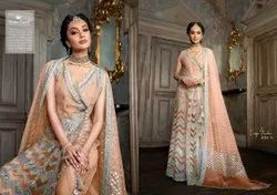 Heavy Butterfly Net With Embroidery Work Gown