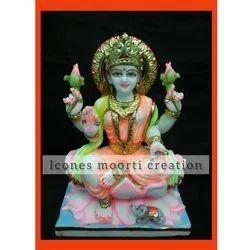 2 Feet Marble Laxmi Statue