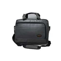 Polyester Shiwakoti Solid Gray Office Bag, Size/Dimension: 15.5*11.5*5 Inch, Capacity: 8 Kg