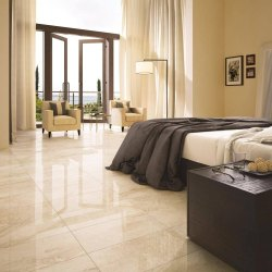 Residential Building Marble Flooring Service, For Indoor