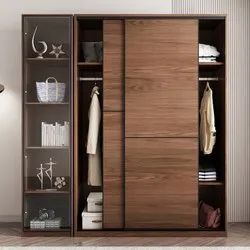 Sliding Wooden Wardrobe